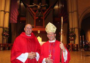 Fr Morgan Batt and Bishop Randazzo