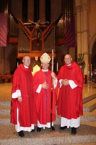 Fr Morgan Batt,Bishop Randazzo  and Fr Kenneth Howell