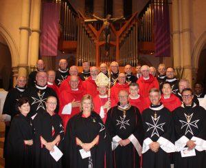 QLD Branch Members with Bishop Randazzo and Fr Morgan Batt