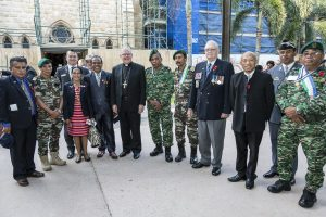 Veterans with Brisbane Archbishop and SOM Australian Association President 2017
