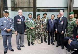 Veterans with Qld Governor, Timor-Leste President-elect and SOM Australian Association President 2017