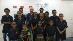 Scholarship students at a Christmas party organised by the Order of Malta Embassy in Timor-Leste